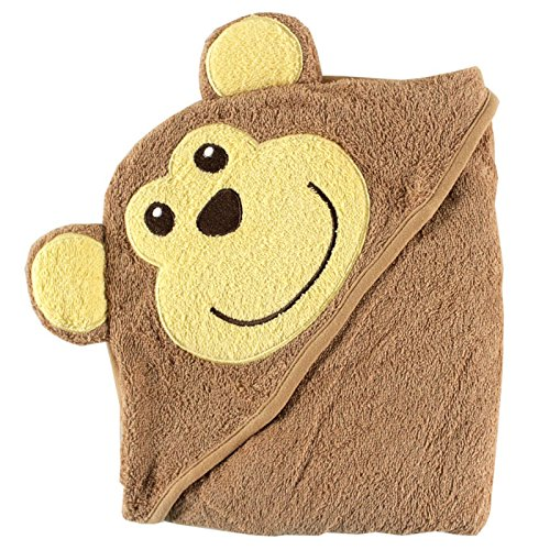 Discontinued Monkey - Luvable Friends Animal Face Hooded Woven Terry Baby Towel, Monkey (Discontinued by Manufacturer)