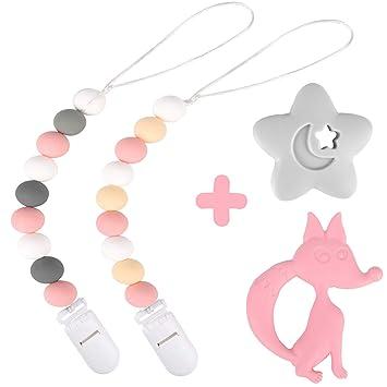 Amazon.com: Dodo Babies - Clip de silicona para chupete (2 ...