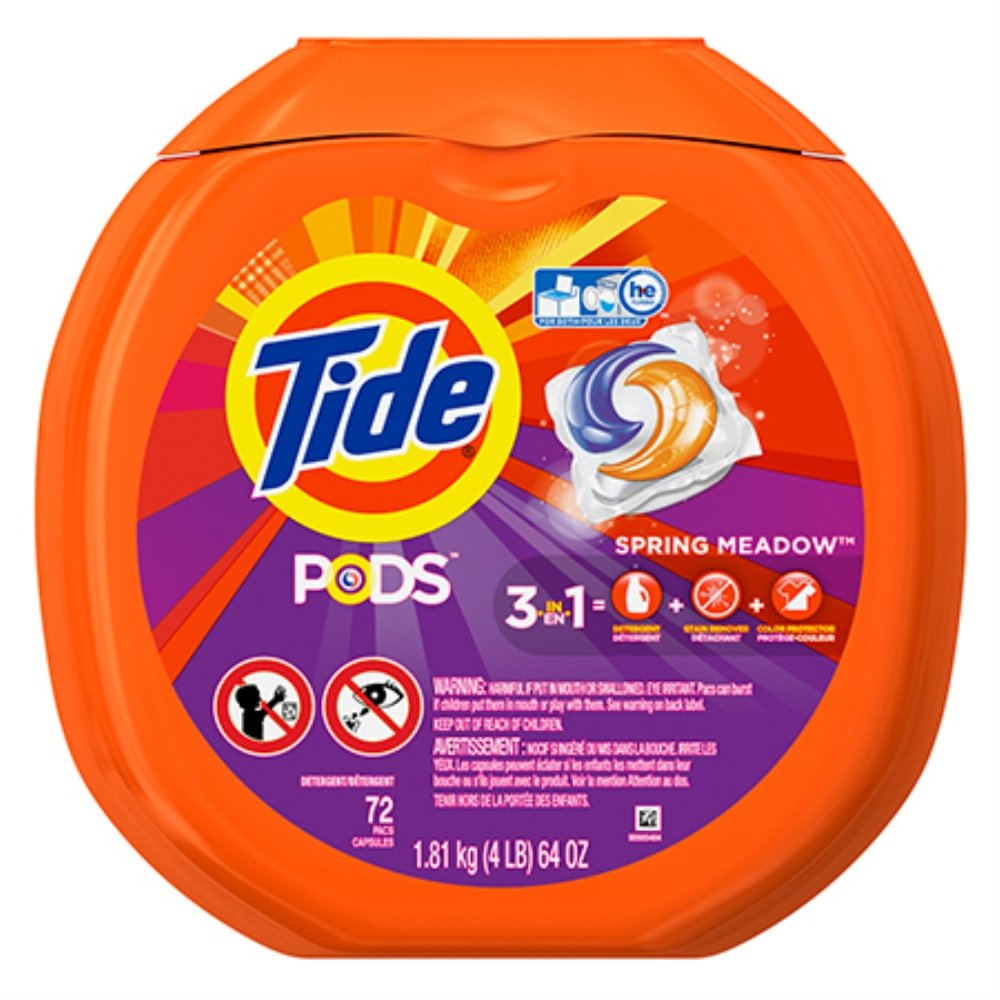 Tide Spring Meadow Pods (Tub of 72 Pods) B00COR928S