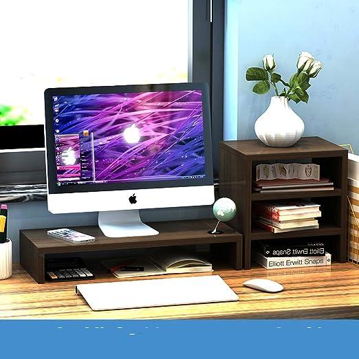 Computer Monitor Riser Laptop PC Stand Home Office Desktop Table Storage Shelf