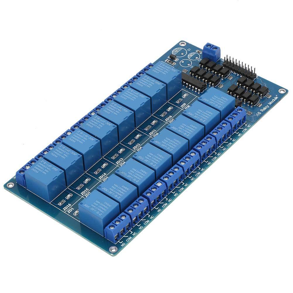 16 Kanal 5V Relaismodul Steuerkarte mit Optokopplerschutz f/ür Mikrocontrollermodul