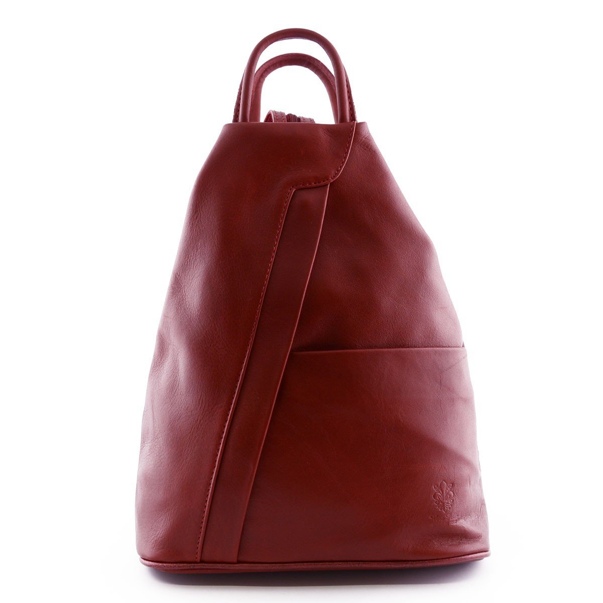 Made In Italy Woman Leather Backpack Color Red - Backpack   B014T6IXRC