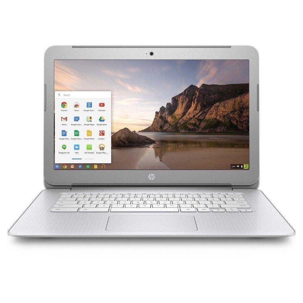 HP 14in diagonal SVA BrightView HD Chromebook - Intel Dual-Core Celeron N2840 2.16GHz, 4GB DDR3, 16GB eMMC, 802.11ac, Bluetooth, HDMI, USB 3.0, Chrome OS (Renewed)