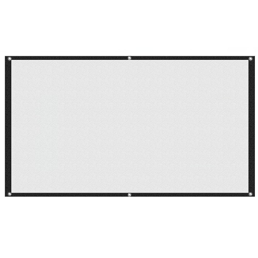 Aupuda 16:9 Portable Projection Screen, 100inch Diagonal Home Theater Cinema Projector Screen