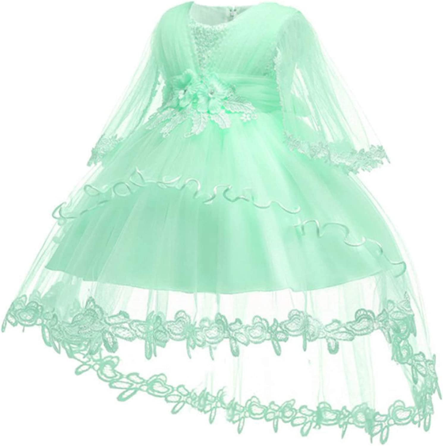 Baby Girl 1 Year Birthday Dress Formal Petals Tulle Toddler Girl Dress Infant Princess Party Dresses for Girls 0-2 Y