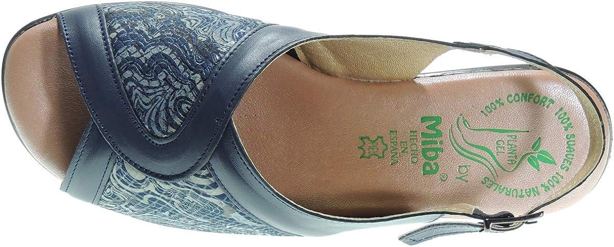 MIBA 457 Zapato Comod/ón Ancho Especial Licra Planta Gel Mujer para Mujer