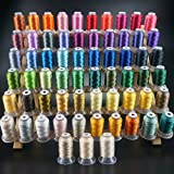 New brothread 63 Brother Colors Polyester Embroidery Machine Thread Kit 500M (550Y) Each Spool for Brother Babylock...