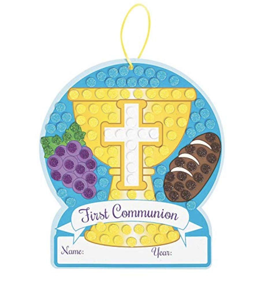 24 First Communion Mosaic Craft Kits ~