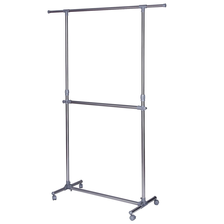 Uncategorized Metal Clothing Racks shop amazon comgarment racks songmics double rod clothes rack