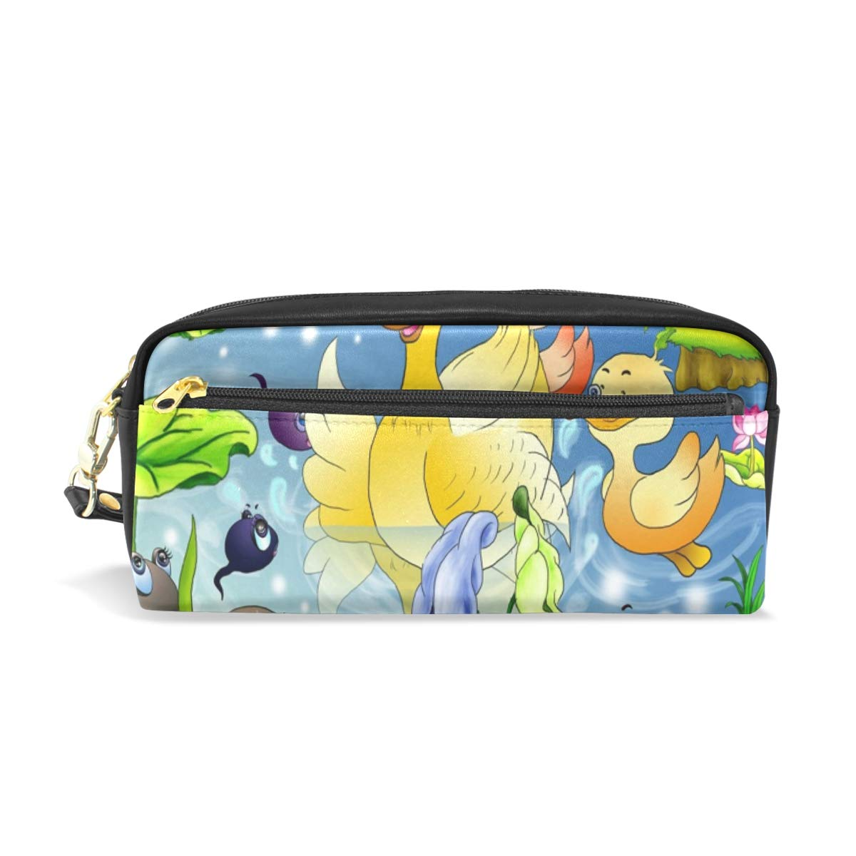 reputable site f81b0 eb161 Amazon.com : Pencil Case Ducky Pond iPhone Cute Big Stationery ...