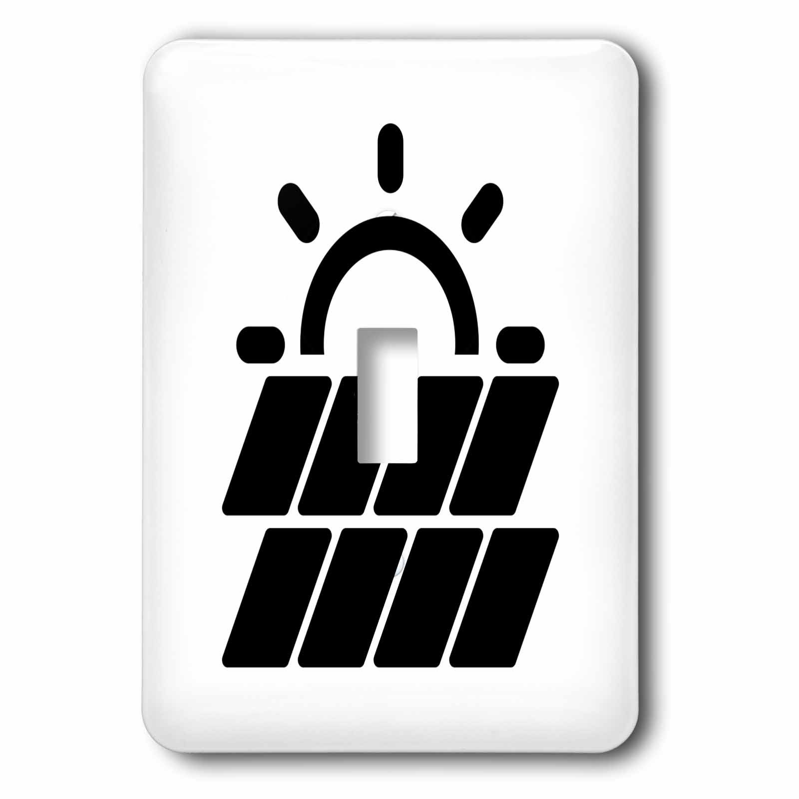 3dRose Carsten Reisinger - Illustrations - Solar Power Symbol Protect the Environment - Light Switch Covers - single toggle switch (lsp_282669_1)
