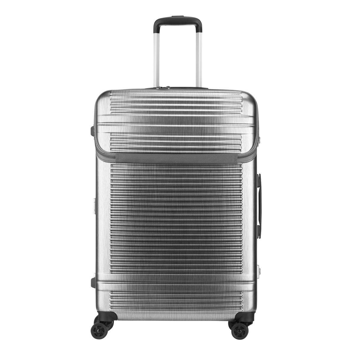 [サンコー] スーツケース ワールドスターW 90L 68cm 5.8kg WSW1-LF  ヘアラインシルバー B07KQ4J1ZR