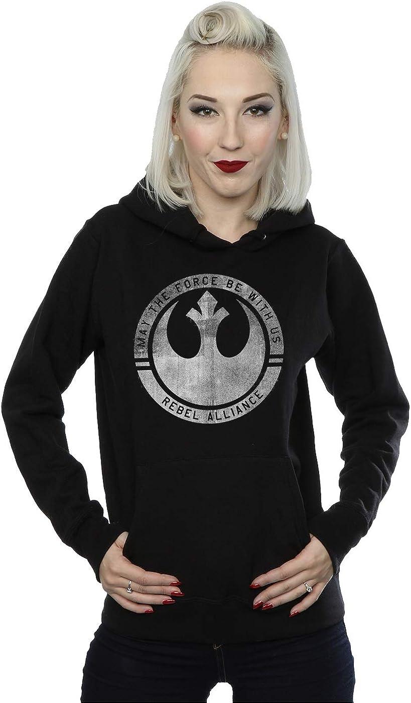 Abbigliamento ufficiale di Star Wars-Rebel Logo e testo-Felpa con cappuccio da uomo-Nero