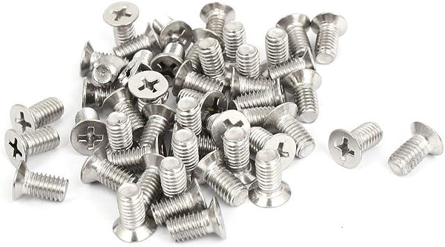 M5 x 20mm Phillips Cross Socket Flat Head Titanium Screw Screws 10pcs
