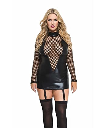 Amazon Music Legs Womens Plus Size Wet Look And Fishnet Long