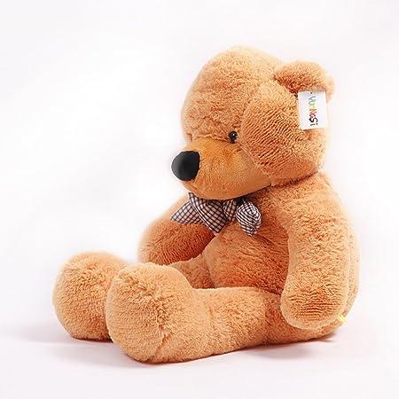 YunNasi Teddy oso gigante de peluche juguete de felpa 120 cm marrón claro: Amazon.es: Juguetes y juegos
