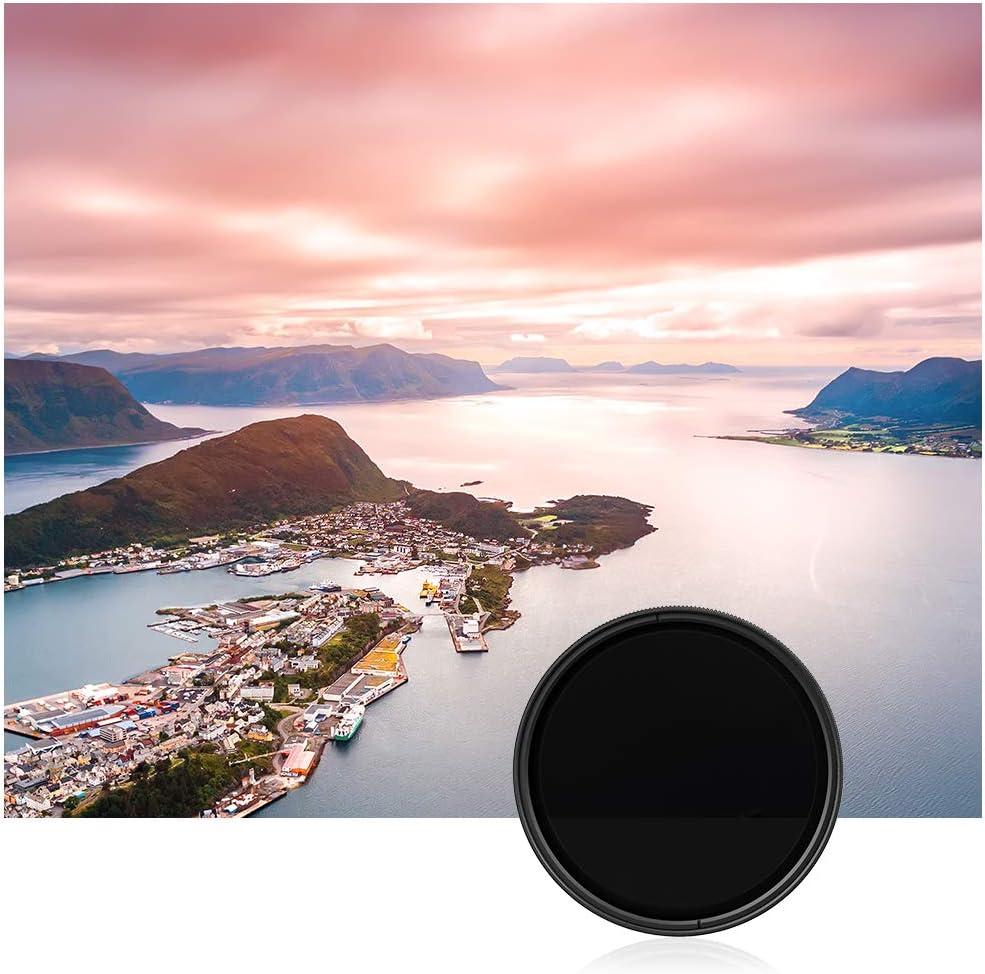 Berlin Optix Filtre ND Variable de 49 mm ∙ Filtre ND2 400 Gris de 49 mm ∙ Isole efficacement la lumi/ère incidente ∙ Parfait pour la Photographie de Paysage et darchitecture