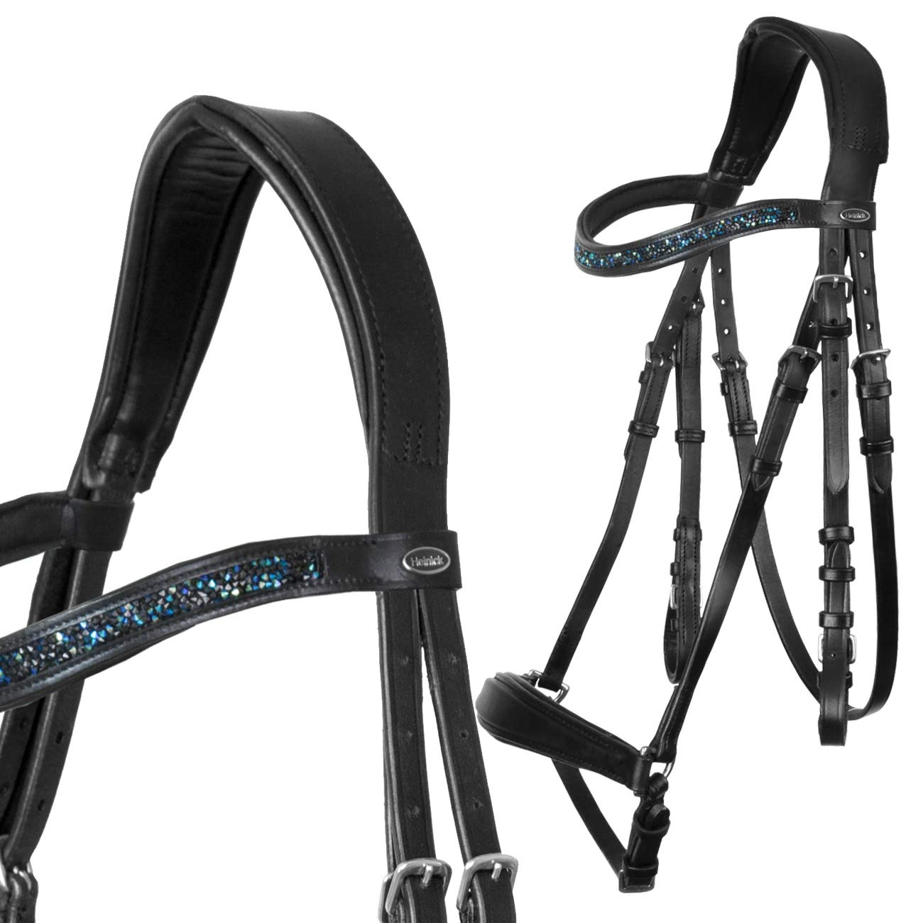 Full-Blooded Heinick-Reitsport Comfort Snaffle Hanannoian Black  Dust Navy  WB VB