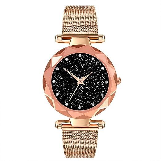 BBestseller Relojes Pulsera Mujer,Correa de Malla de Reloj de aleación Pulsera Cielo estrellad Impermeable Wristwatch (Oro Rosa): Amazon.es: Relojes