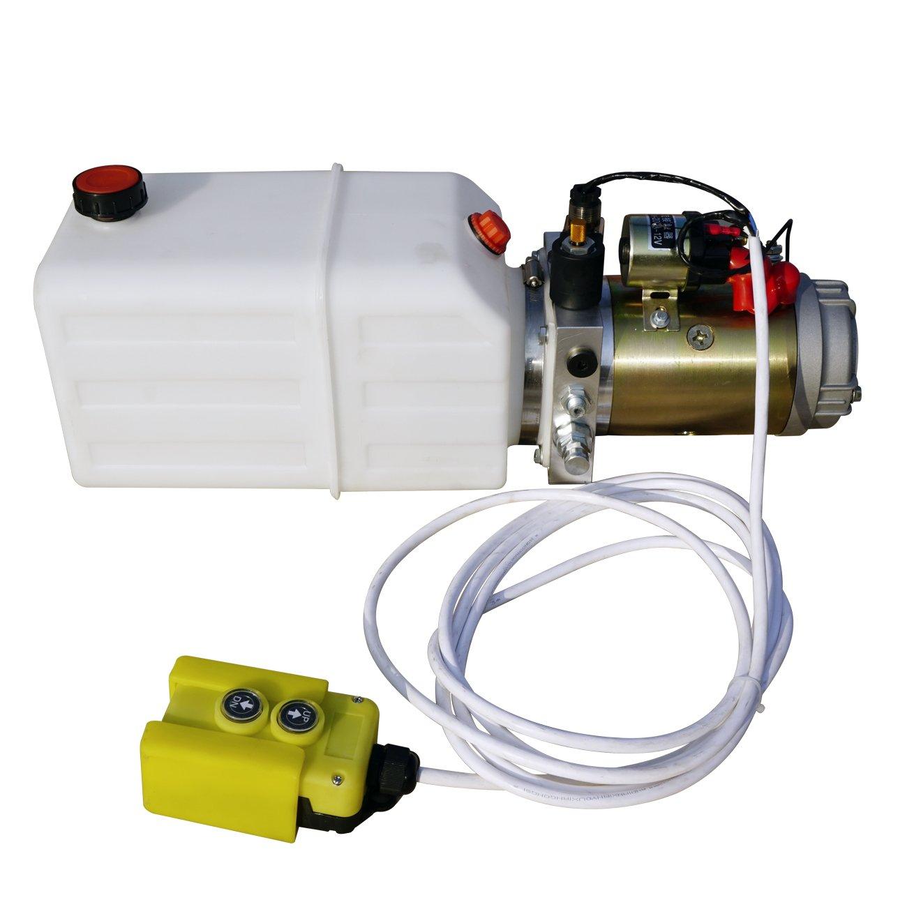 ECO-WORTHY 8L双相 オイルポンプ駆動油圧式ユニット B01ERD72BA 8L双相  8L双相