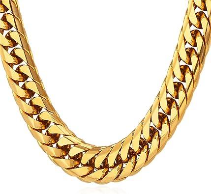 Amazon.com: U7 - Collar para hombre con cadena gruesa de ...