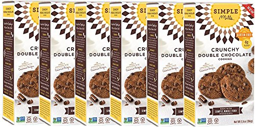 Gluten Emulsifier Free (Simple Mills Crunchy Cookies, Double Chocolate, Naturally Gluten Free, 5.5 oz, 6 count)