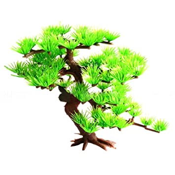 Lorjoy Ornamento Planta del árbol de Pino de plástico para Peces de Acuario Tanque Decoración: Amazon.es: Hogar