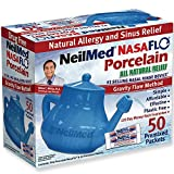 NeilMed Nasaflo Porcelain Neti Pot, 8 Ounce