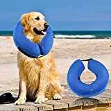 ONSON Protective Inflatable Dogs Collar, Soft Pet Recovery E-Collar for Small Medium Large Dogs and Cats, Designed to Prevent Pets From Touching Stitches (Medium)