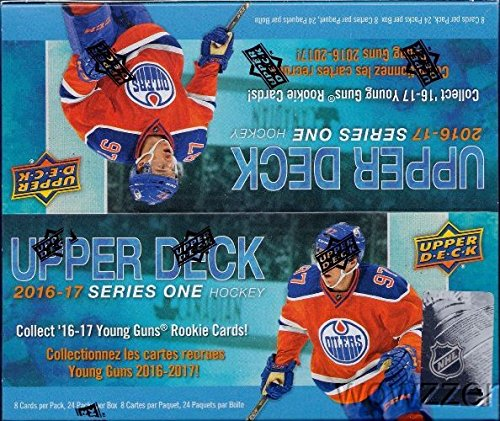 2016/17 Upper Deck Series 1 NHL Hockey MASSIVE Factory Sealed 24 Pack Retail Box with 192 Cards & Game Jersey Card! Includes 6 Young Guns Rookies & 3 Portrait Inserts! Look for Austin Mathews RC!