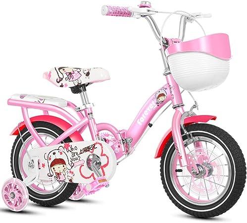 Bicicletas Niños Cochecito Rosa para Niña Carro De Equilibrio para Niños De 2 A 4 Años Plegable De 4 A 8 Años Ejercicio para Ciclismo Al Aire Libre Dar A Los Niño: Amazon.es: Hogar