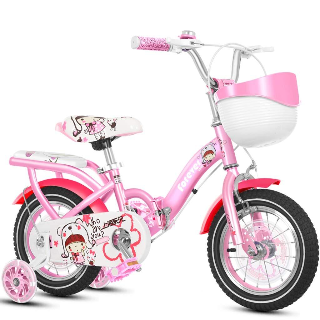 Bici per bambini Bicicletta Per Bambini Carrozzina rosa Per Bimbi Auto Bilanciamento Del Pedale Per Bambini 2-4 Anni Bicicletta Pieghevole Per 4-8 Anni Cyclette Per Bicicletta All'aperto Dare Ai Bambi