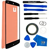 MMOBIEL® Kit de Reemplazo de Pantalla Táctil para LG GOOGLE NEXUS 5 (Negro) incluye Kit de Herramientas de 11 piezas con etiqueta precortada/Limpiador de microfibra/alambre Metálico