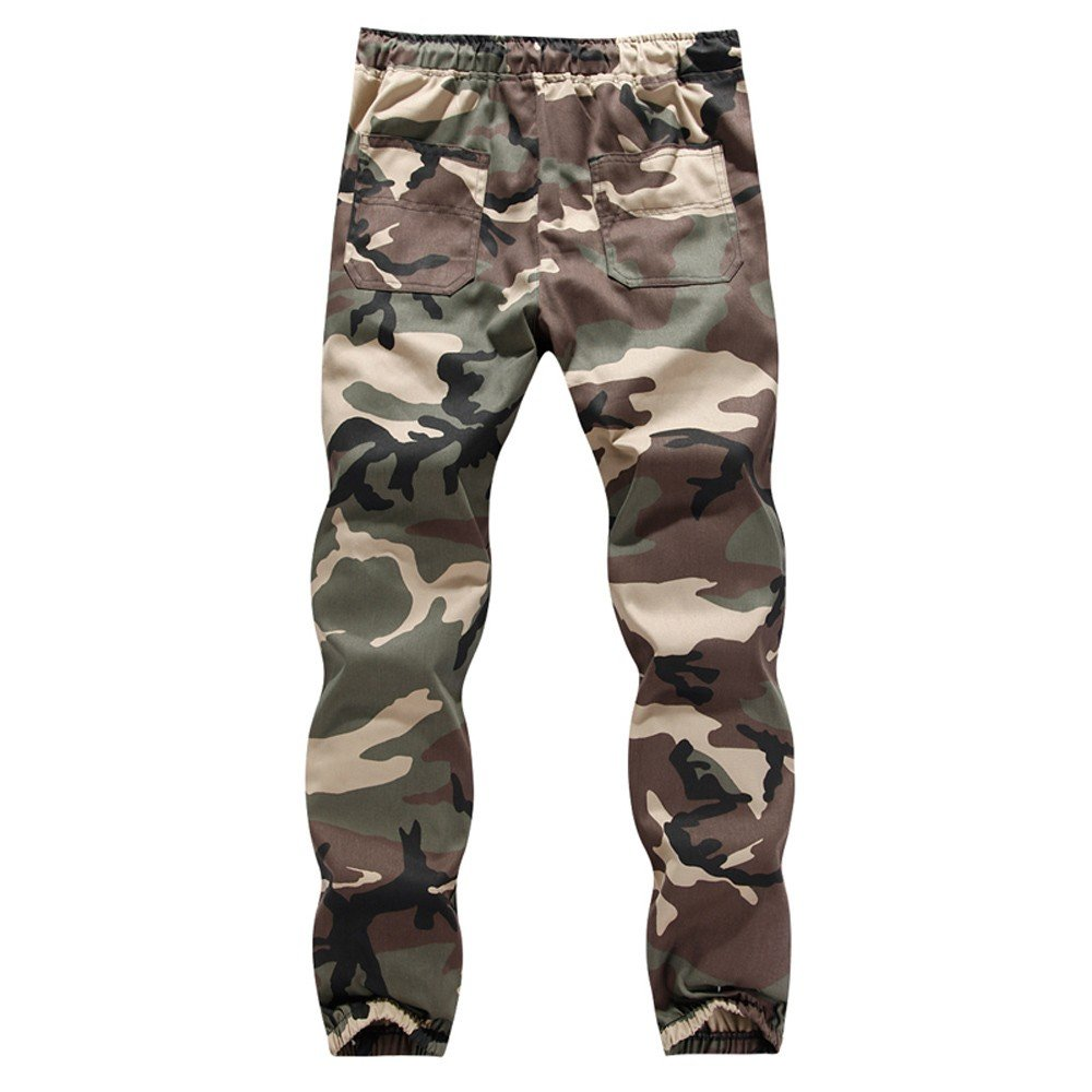 Men's Casual Sweatpants,Clearance-Summer Fashion Plus Size Baggy Harem Sport Drawstring Camouflage Trousers by Cobcob men 's pant