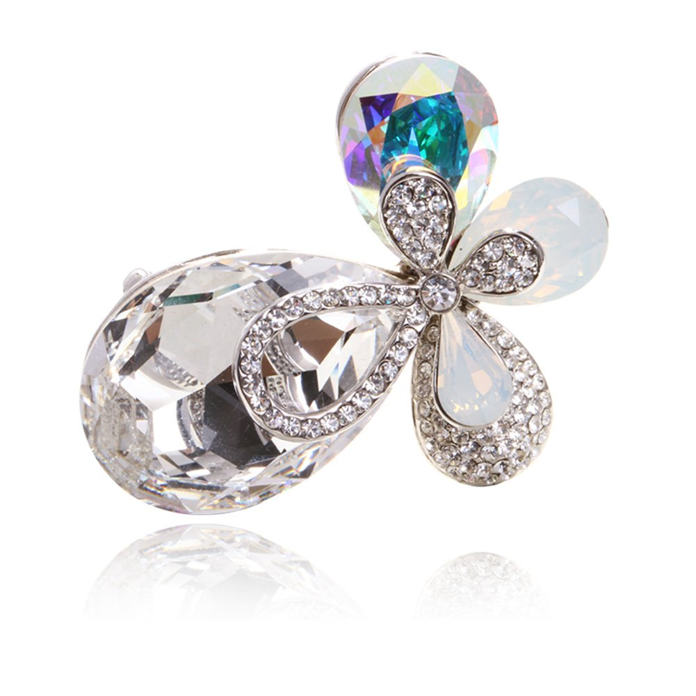 Digabi Women Jewelry Brooch Clothing Accessories Four Leaves with Gift Bag