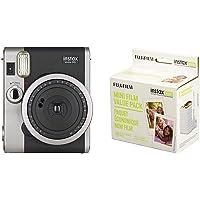 Fujifilm Instax Mini 90 Neo Classic Instant Film Camera and Instax Mini Instant Film Value Pack
