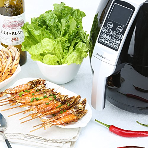 SimpleTaste 1400W Multi-function Electric Air Fryer with Rapid Air Circulation Technology, Smart Programs with Automatic and Manual Timer & Temperature Controls, 3.2 QT by SimpleTaste (Image #5)