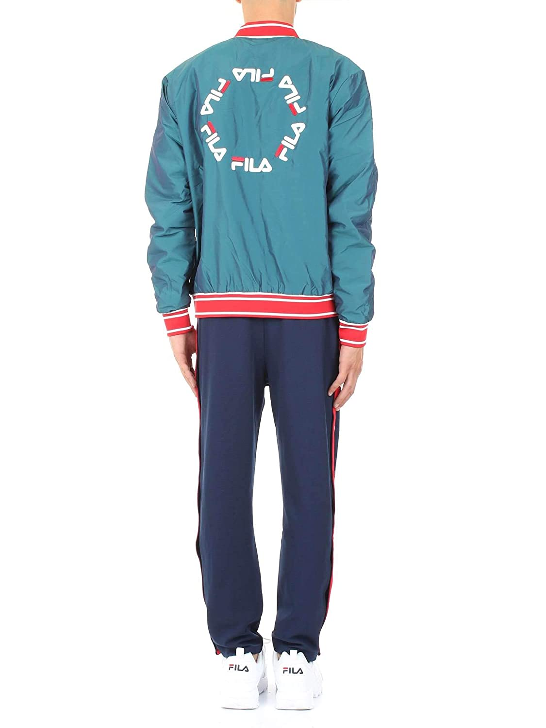 98c0fa12fd5bd Amazon.com: Fila Vintage Friars Tearaway High Waisted Track Pant |  Peacoat/Red: Clothing