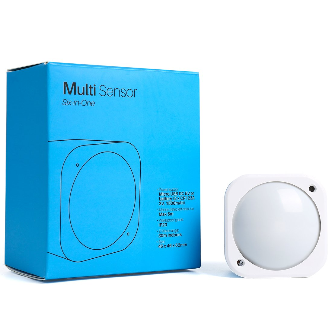 Multisensor 6, Z-Wave Plus 6-in1 Motion, Temperature, Humidity, Light, UV, Vibration Sensor