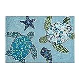 quilt rug - C&F Home Hooked Imperial Coastal Rug, Blue