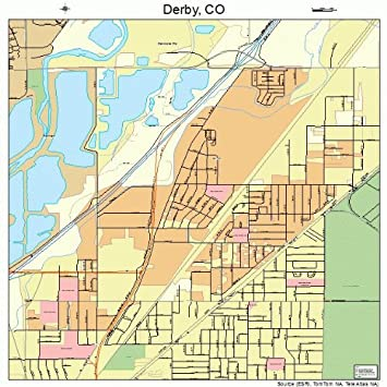 Amazon.com: Large Street & Road Map of Derby, Colorado CO - Printed ...