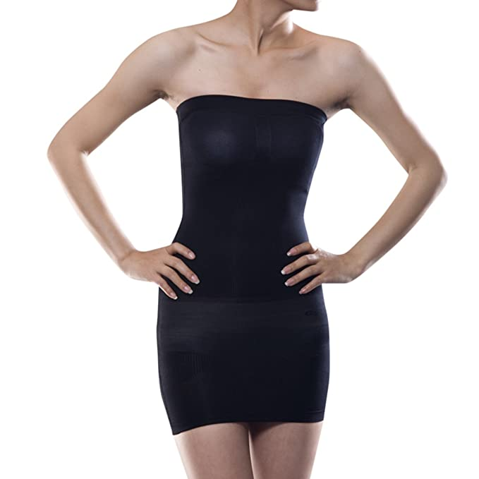 694c10a686 Shymay Women s Full Body Slip Seamless Strapless Shaping Tube Shapewear  Dress
