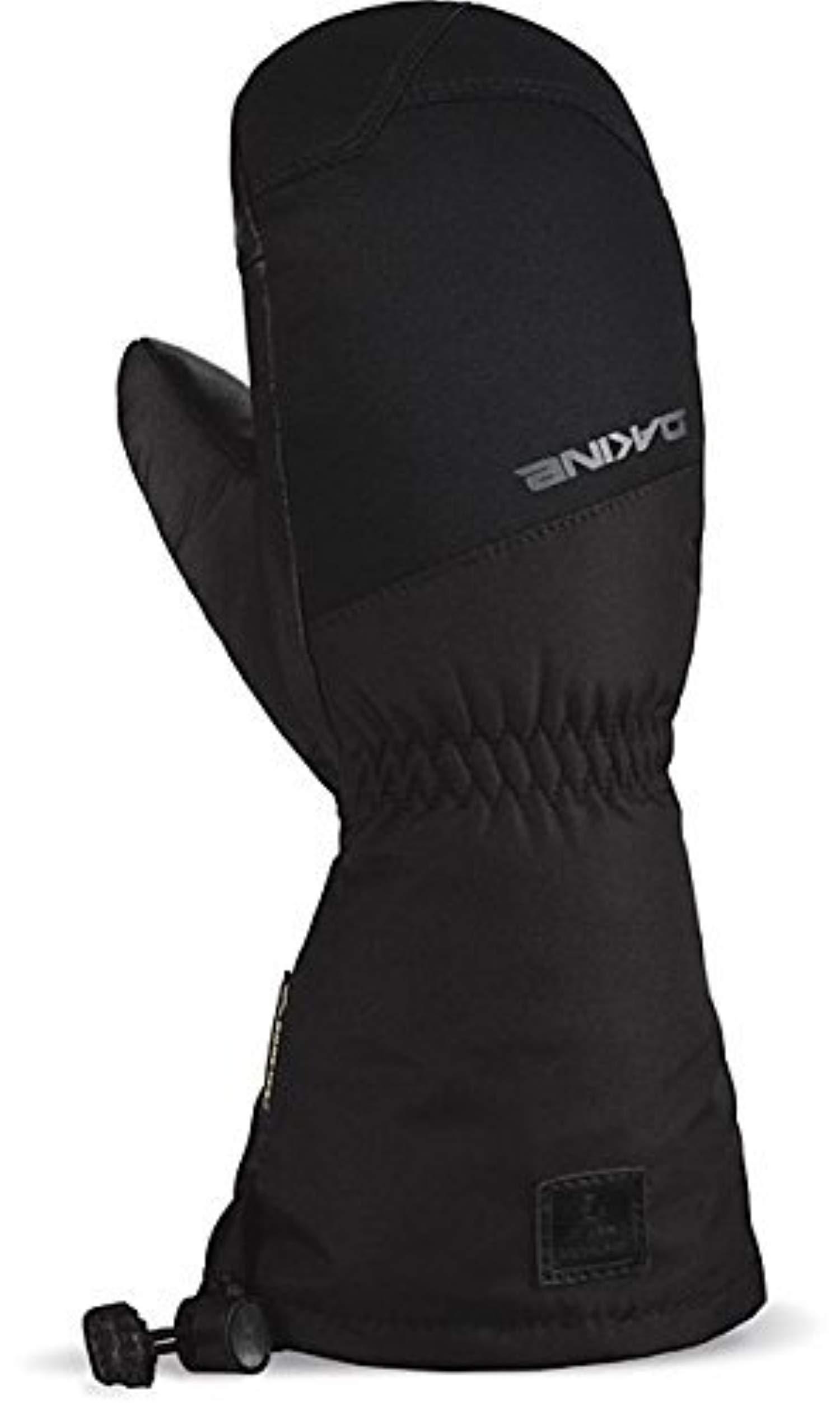 Winter Bundle: Dakine Youth Rover Gore-Tex Mitt Black K/S & Knit Cap