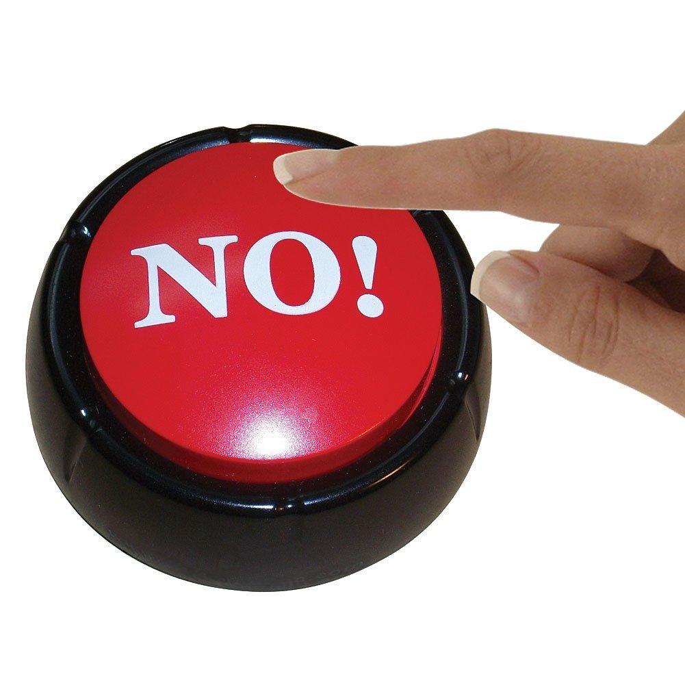 geekgeek The Big Red NO! Button Desktop Sound Toy
