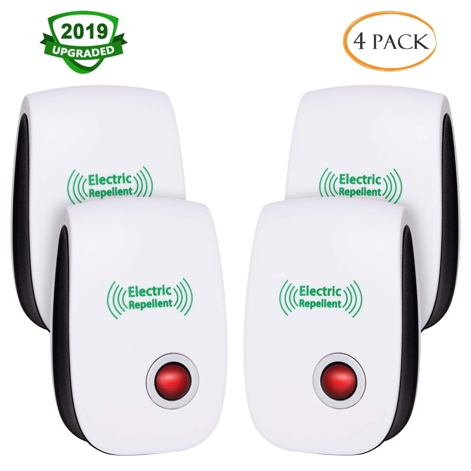 CIVPOWER 2019 Upgraded Ultrasonic Electronic Repellent, Pest Control Repeller Plug in Indoor Usage, Best Pest Controller to Bugs, Insects Mice, Ants, Mosquitoes, Spiders, Rodents and Roach(4 Packs) by CIVPOWER