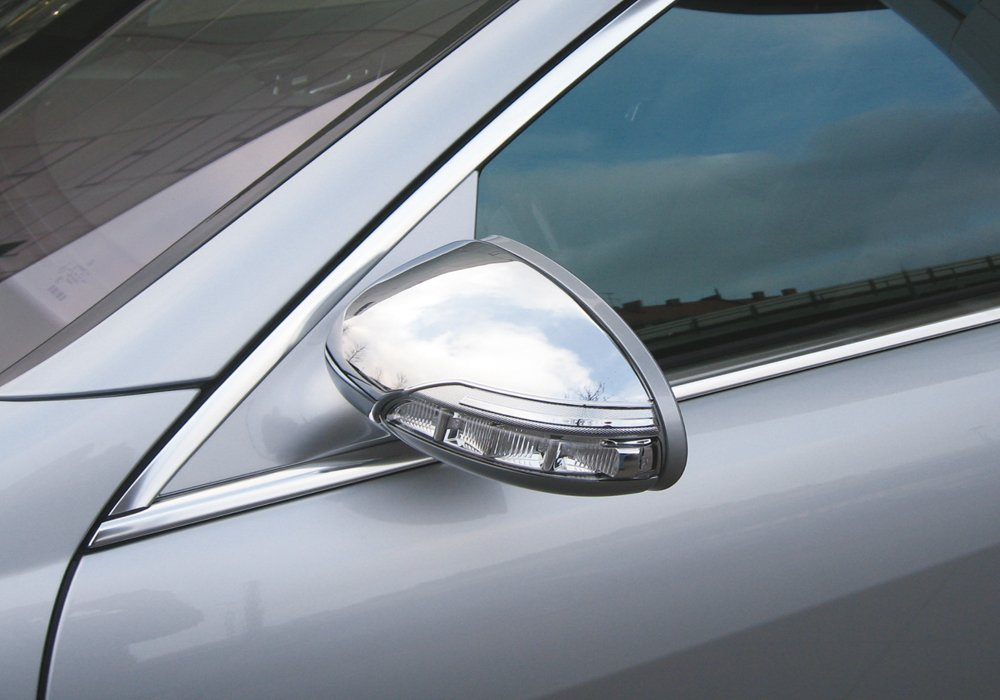 Sch/ätz 8221026 Chrome Wing Mirror Cover for Mercedes S Class W221 CLS W219 and CL W216