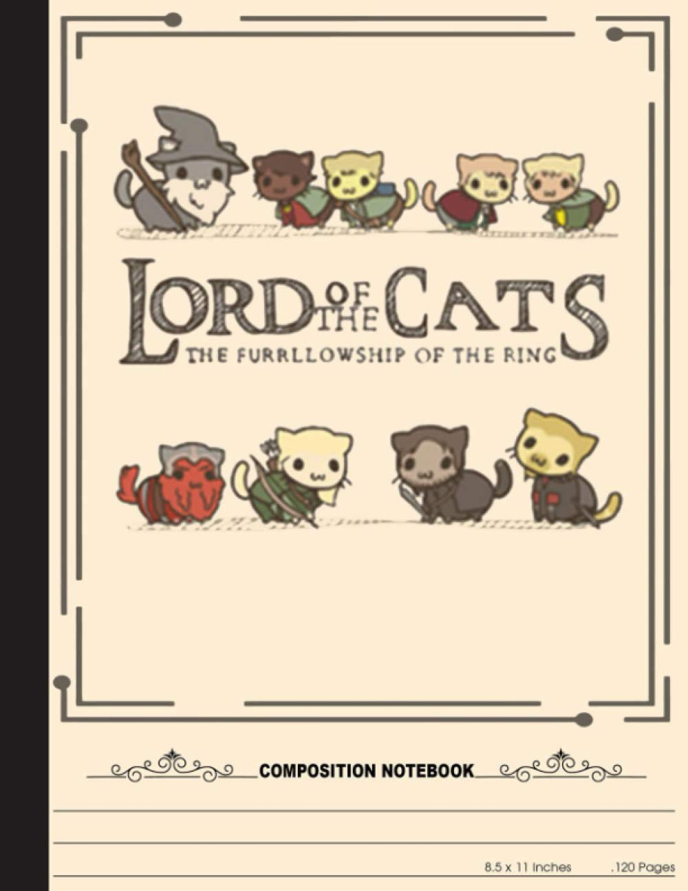 Lord Of The Cats The Furrllowship Of The Ring Composition Book: cats notebook, Nifty Wide Ruled Paper Notebook Journal | Cute cats, Lined Workbook for … for Home School College for Writing Notes