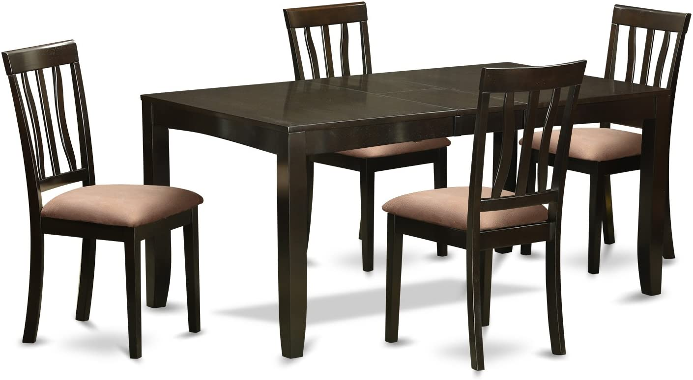 LYAN5-CAP-C 5 Pc Dining room set for 4-Kitchen Tables with Leaf and 4 Kitchen Dining Chairs
