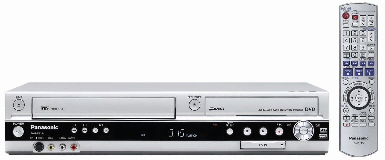 amazon com panasonic dmr es35vs dvd recorder vcr combo with dv rh amazon com Panasonic VCR DMR Ez47vk