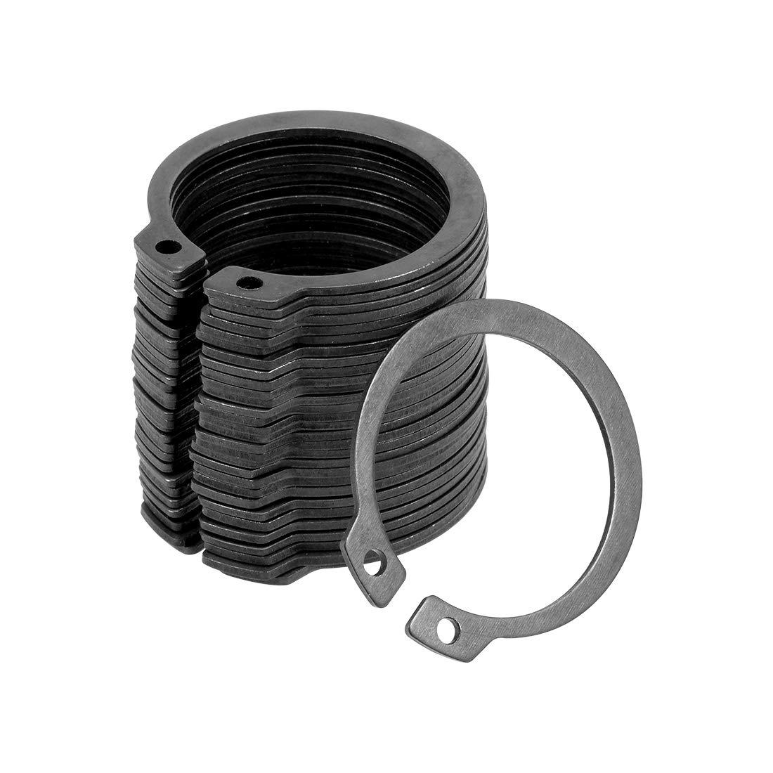 uxcell 35.5mm External Circlips C-Clip Retaining Snap Rings 65Mn 30pcs